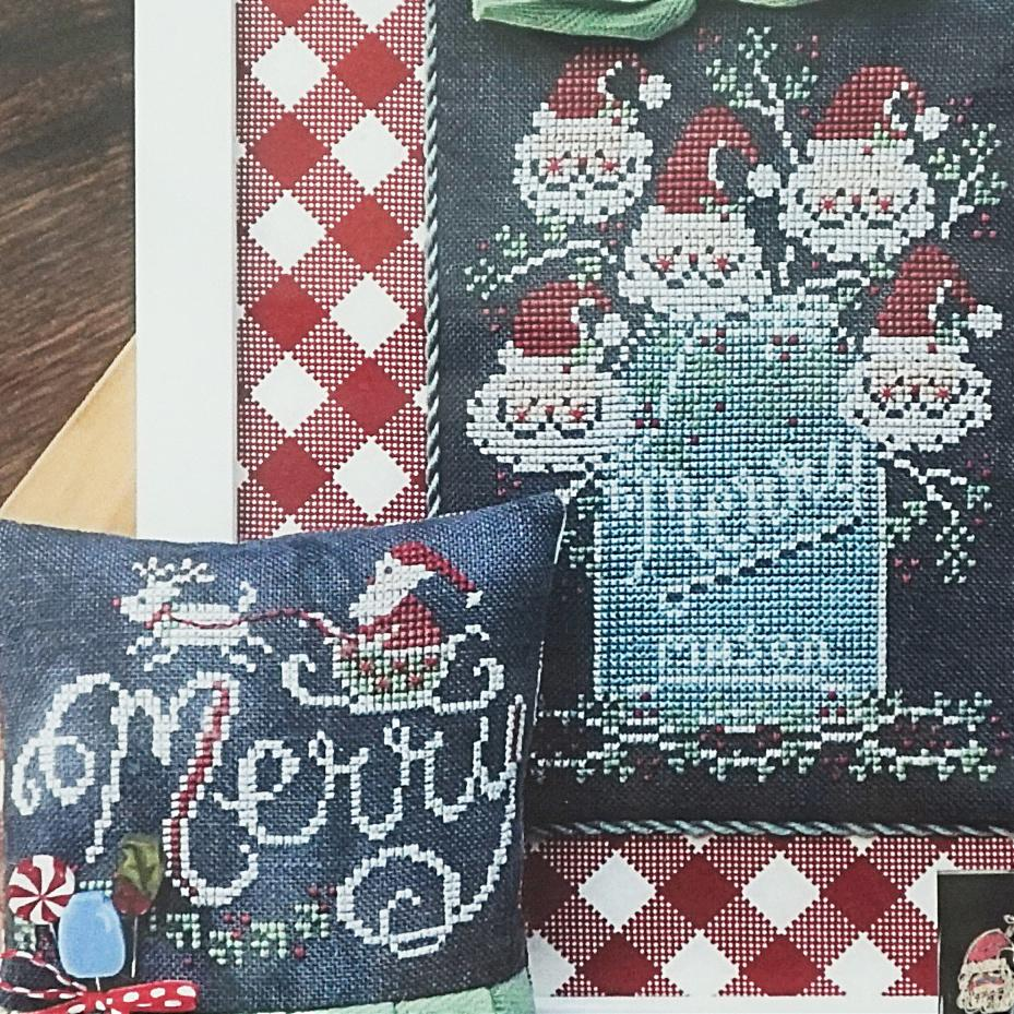 Merry Chalk Full counted cross stitch pattern