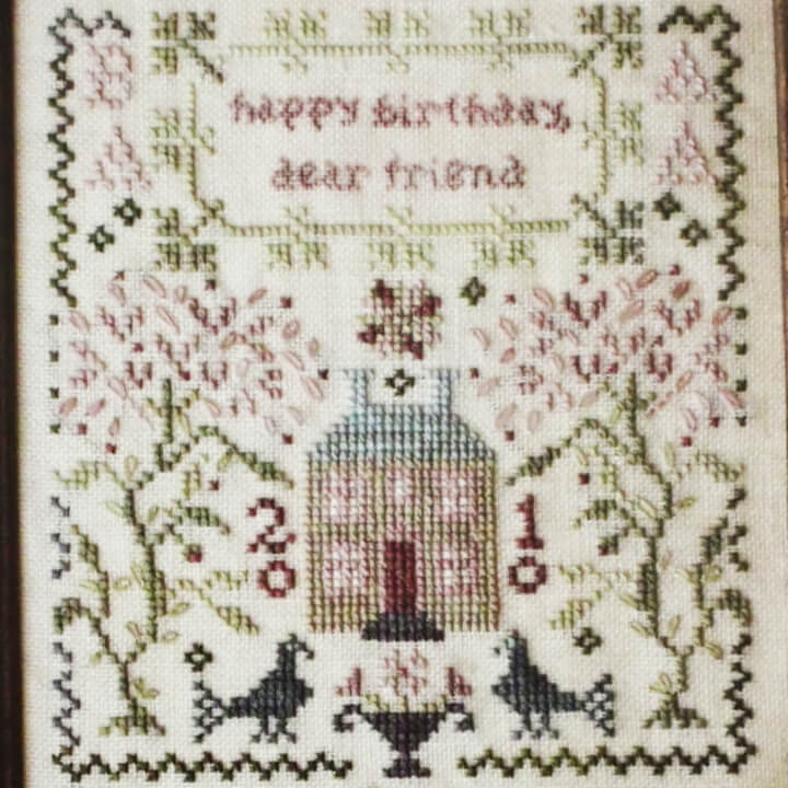 Happy Birthday counted cross stitch pattern