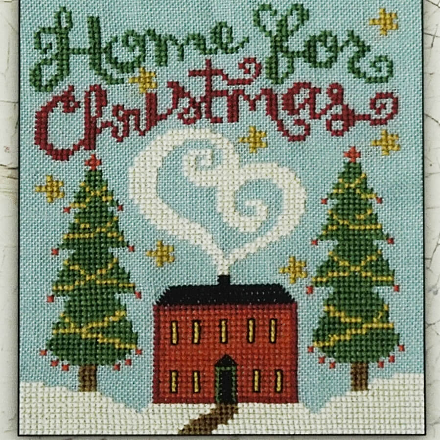 Home For Christmas counted cross stitch pattern