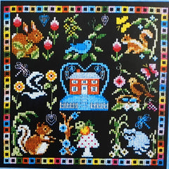 Home with Friends Cross Stitch Pattern | Bobbie G. Designs