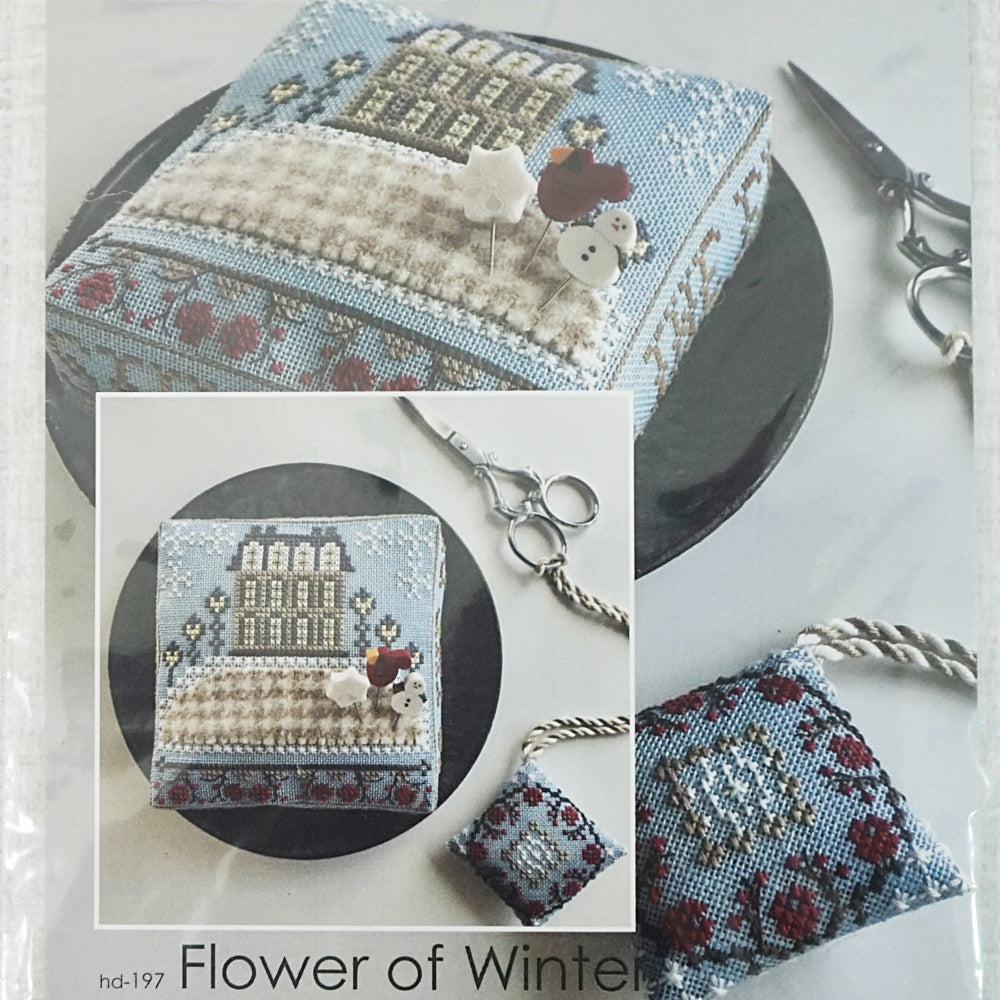 Flower of Winter counted cross stitch pattern