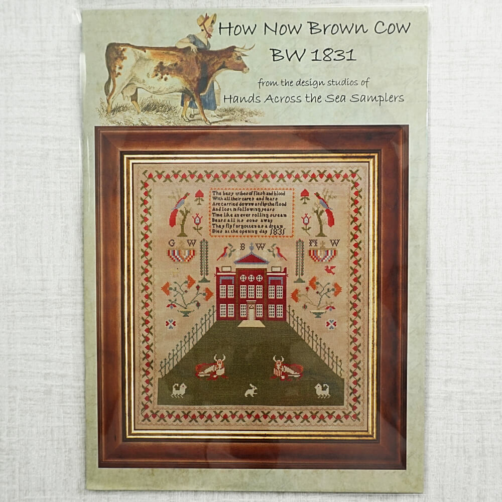 How Now Brown Cow reproduction cross stitch pattern