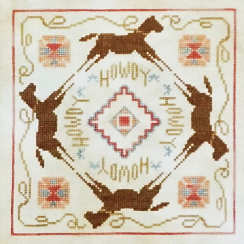 Howdy Pardner counted cross stitch pattern