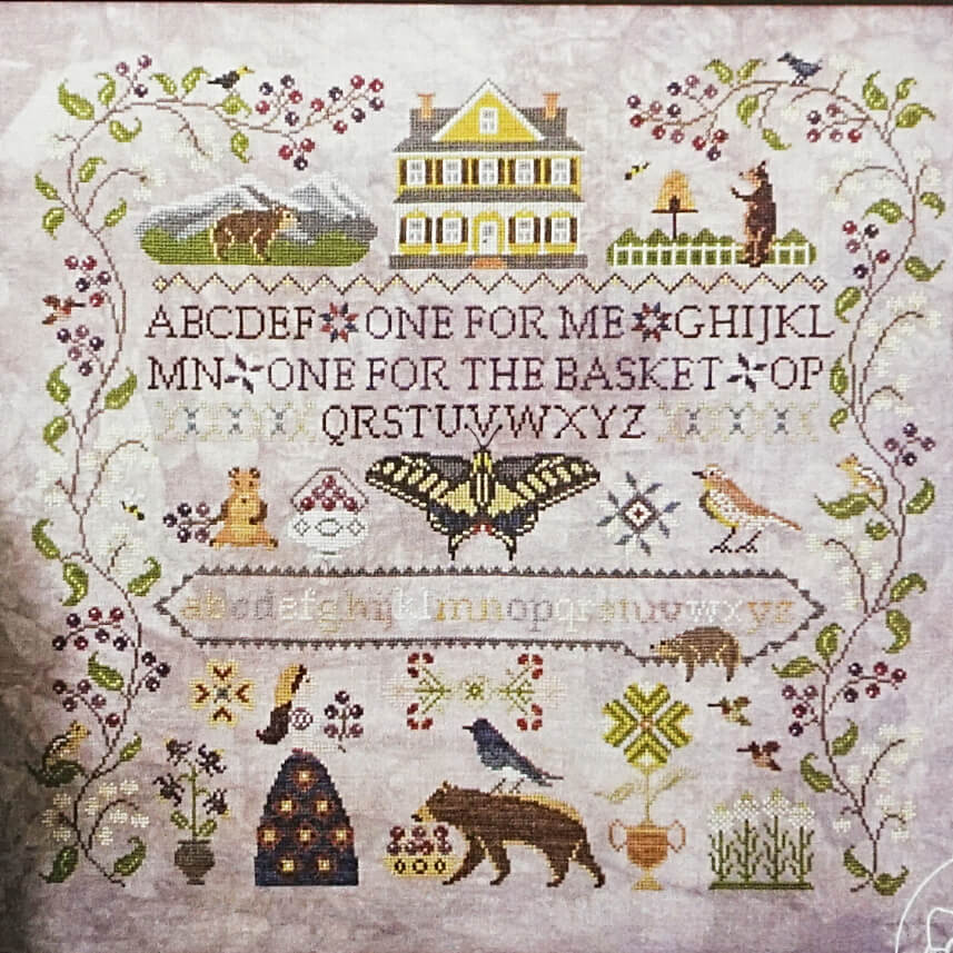 Huckleberry Farm counted cross stitch pattern