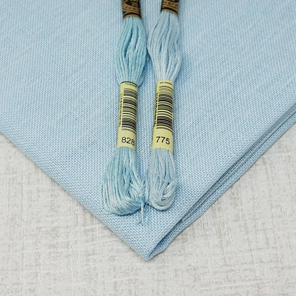 Ice Blue 28 count cashel linen from zweigart for sale
