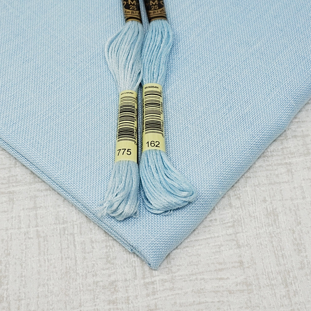 Ice Blue 32 count belfast linen from Zweigart for sale