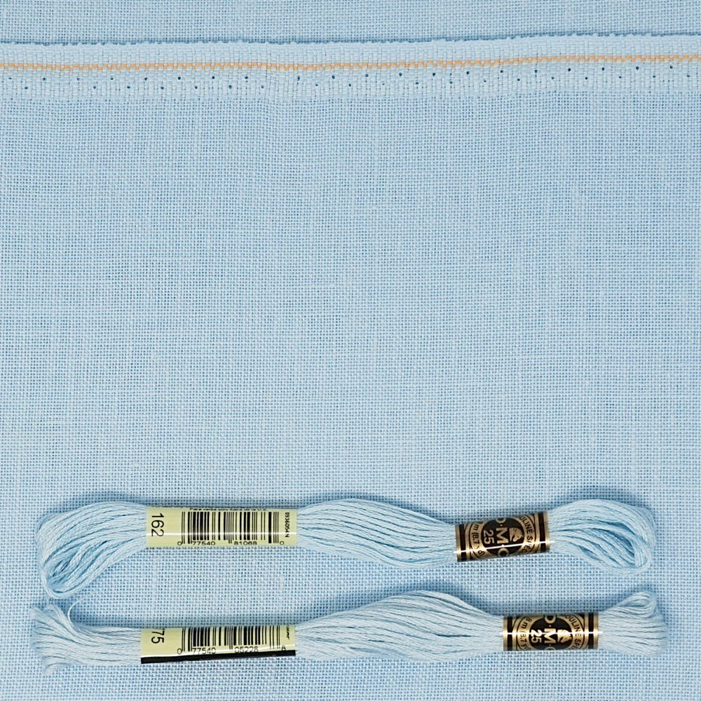 Ice Blue 32 count belfast linen from Zweigart for cross stitch