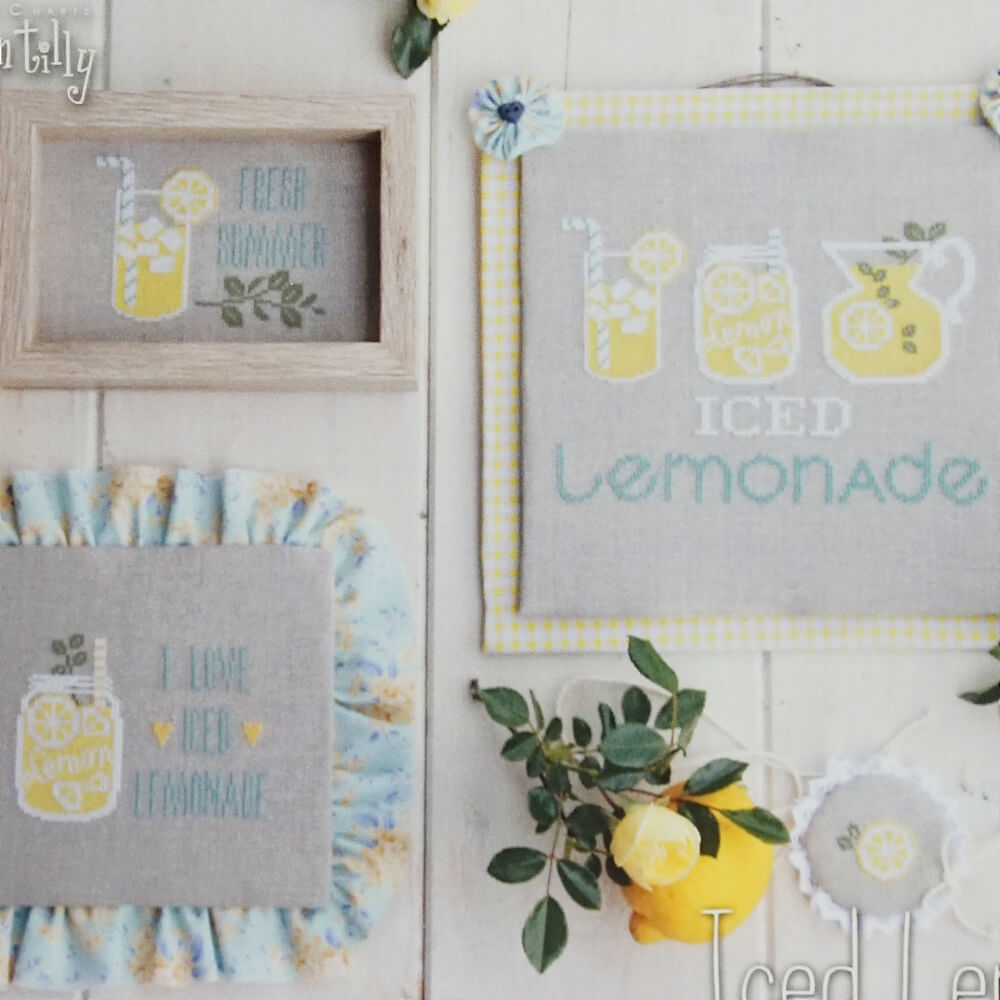Iced Lemonade counted cross stitch pattern