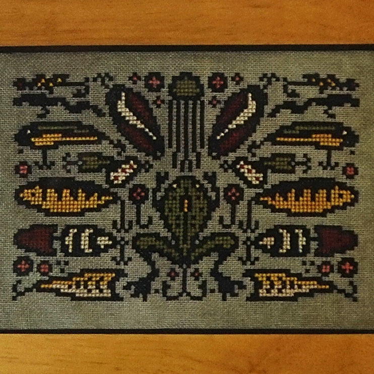 Arranging Lures counted cross stitch chart