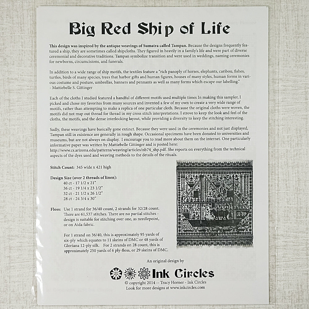 The Big Red Ship of Life pattern for sale