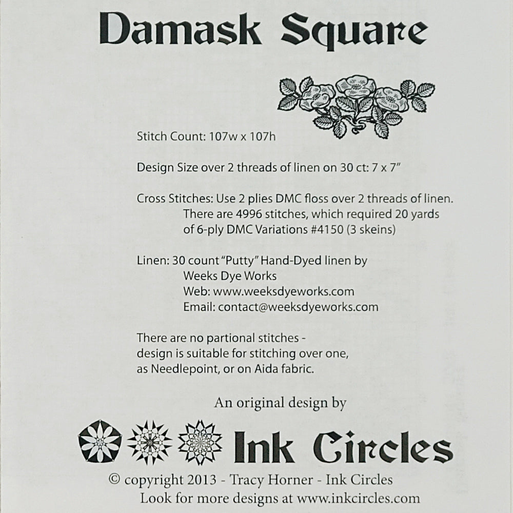 Damask Square pattern for sale