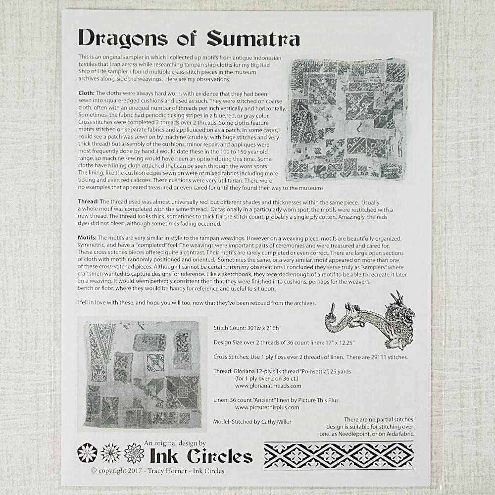 Dragons of Sumatra pattern for sale