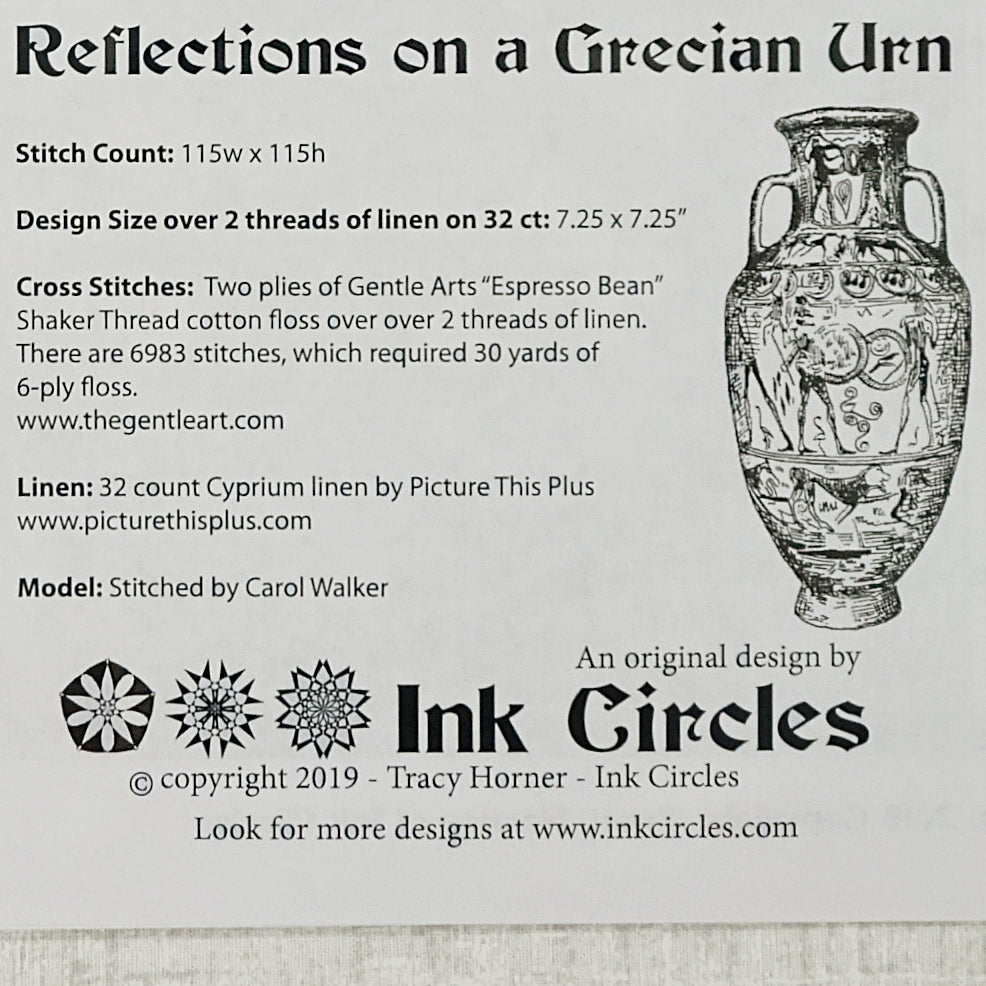 Reflections on a Grecian Urn pattern for sale