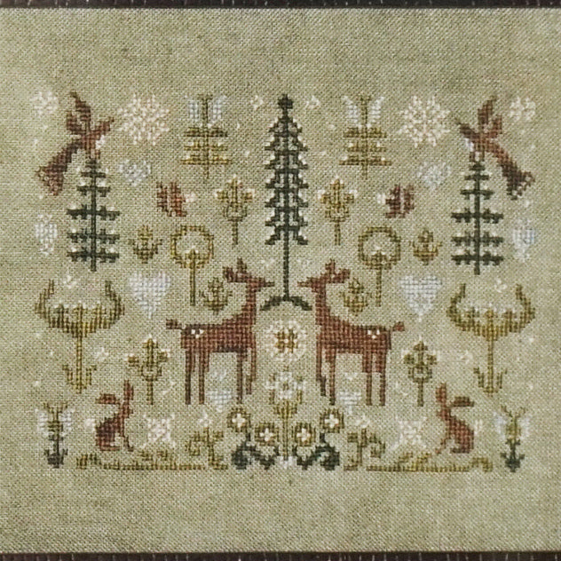 Spring Snow counted cross stitch chart