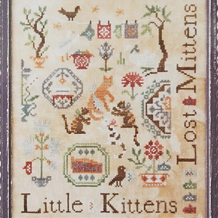 Three Little Kittens counted cross stitch chart