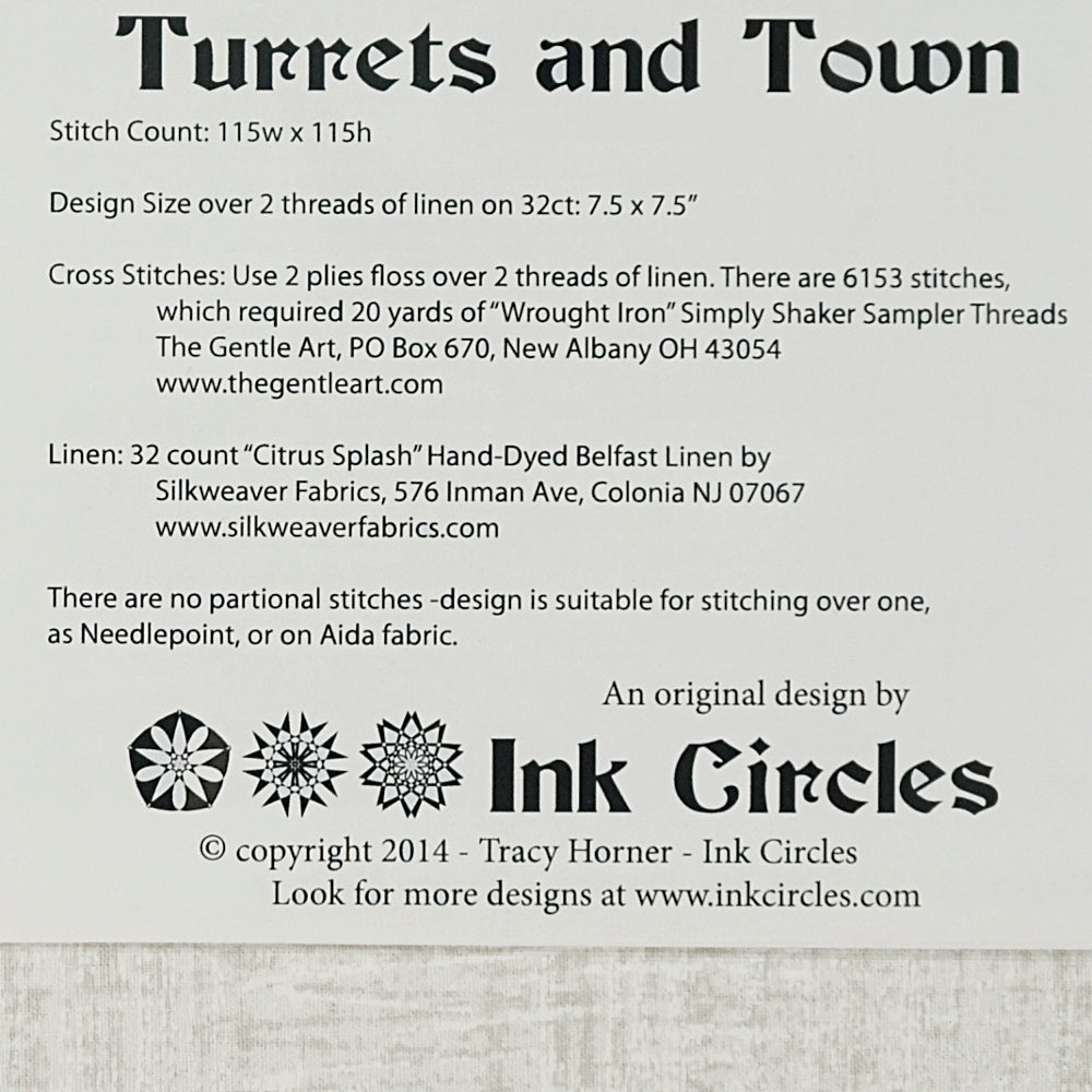Turrets and Town pattern for sale