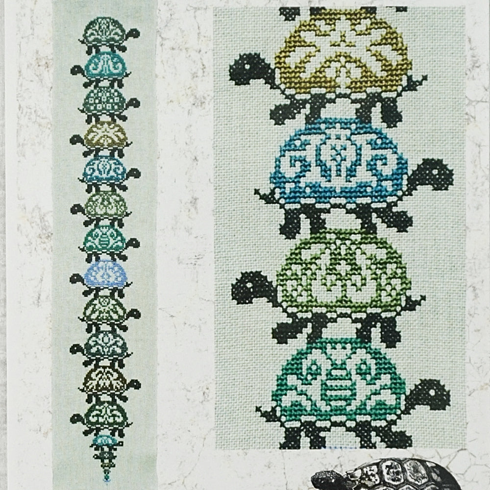 Turtles All the Way Down counted cross stitch chart