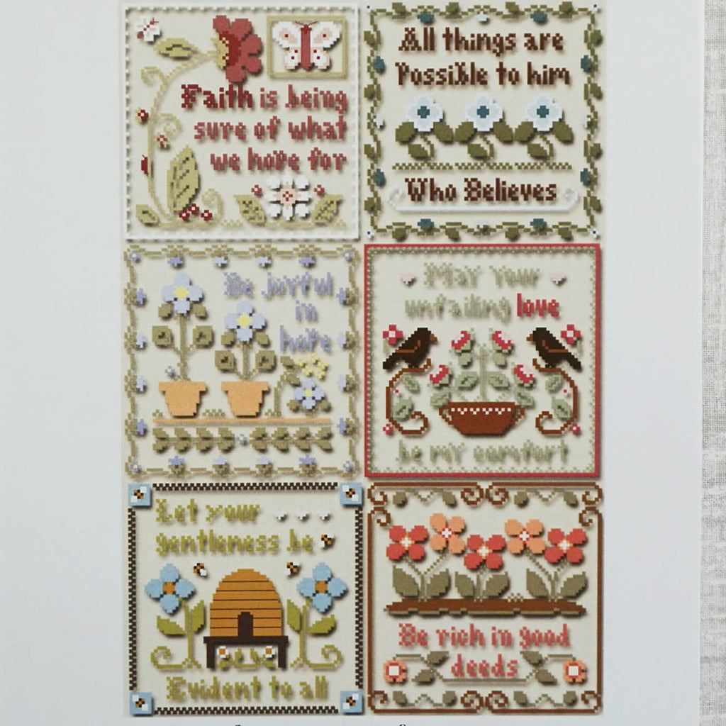 Inspirational Scriptures counted cross stitch patterns