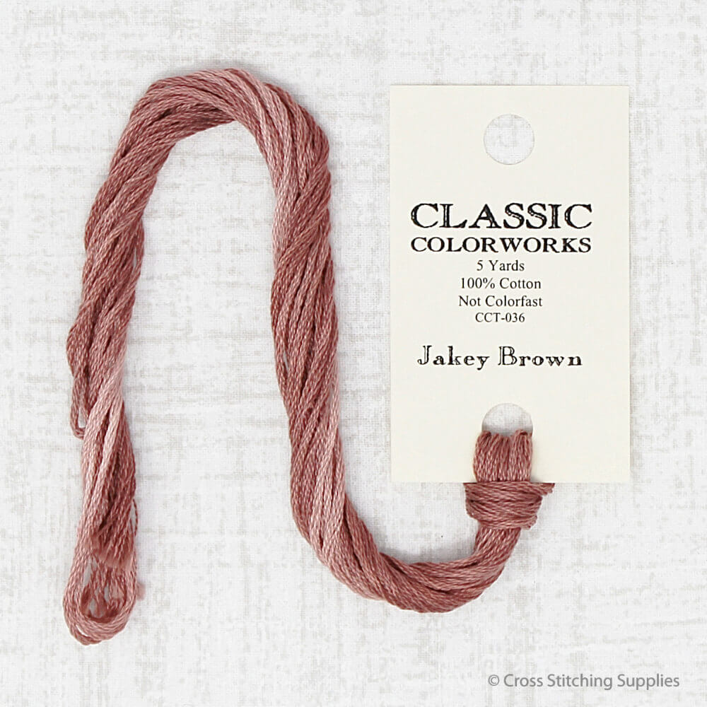 Jakey Brown Classic Colorworks embroidery thread