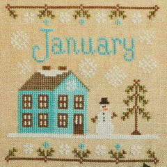 January Cottage Cross Stitch Pattern | Country Cottage Needleworks