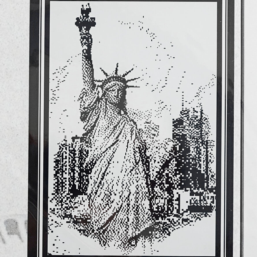 Lady Liberty counted cross stitch pattern