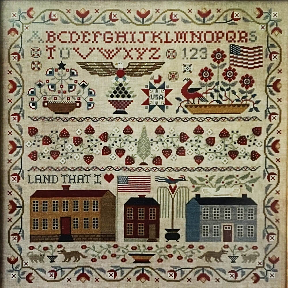 Land That I Love counted cross stitch pattern