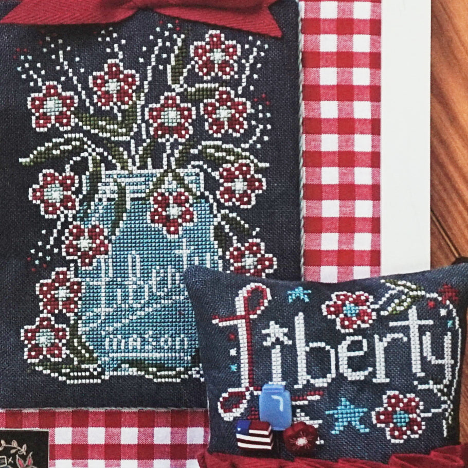 Liberty Chalk Full counted cross stitch pattern