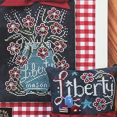 Liberty - Chalk Full Cross Stitch Pattern | Hands On Design