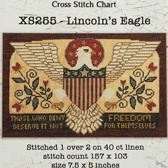 Lincoln's Eagle Cross Stitch Pattern | Teresa Kogut