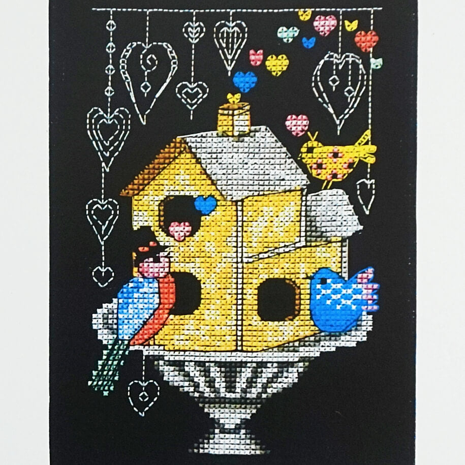 Love Birds counted cross stitch pattern