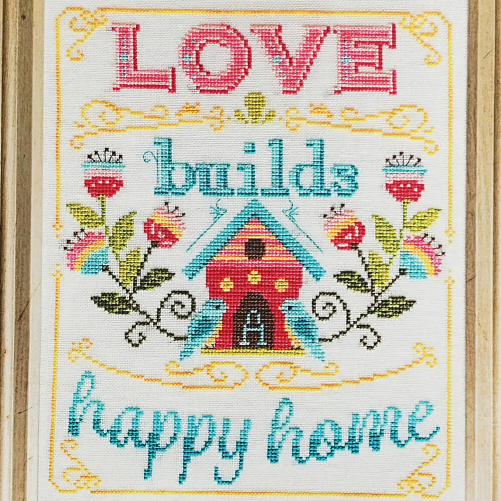 Love Builds a Happy Home counted cross stitch pattern