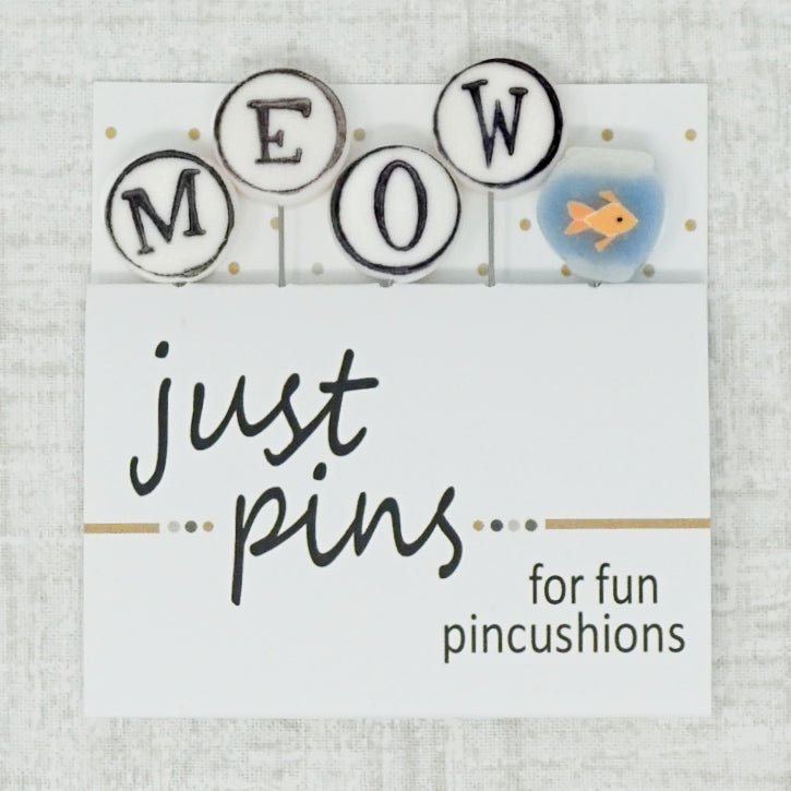 M is for Meow just pins by just another button company
