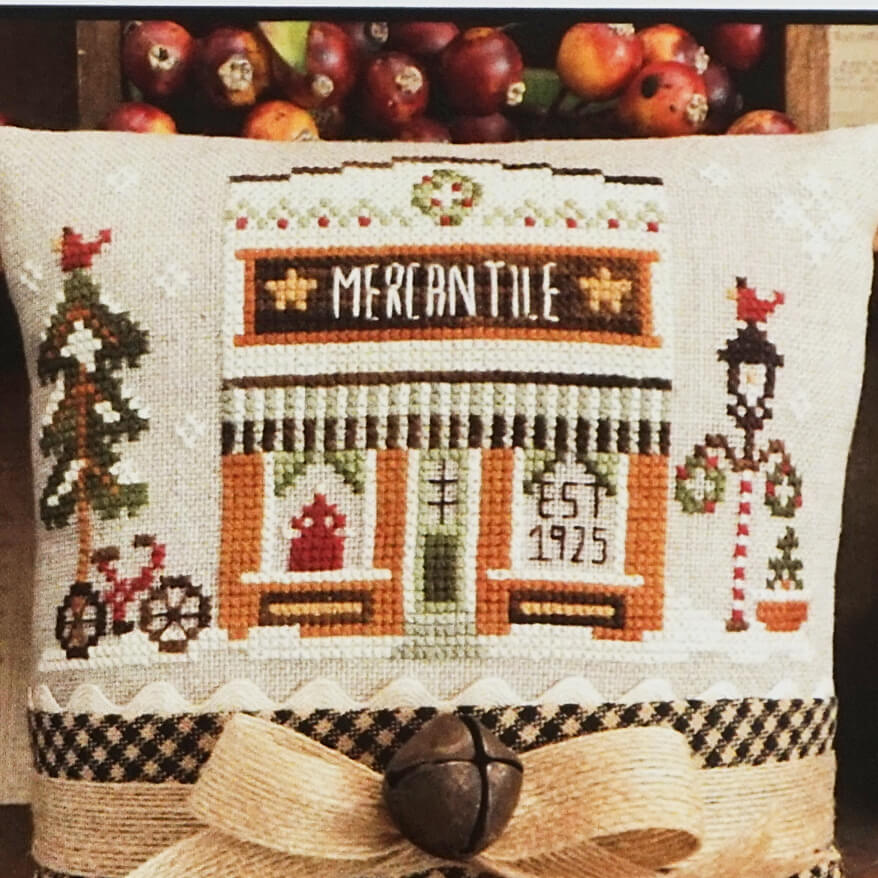 Mercantile counted cross stitch pattern