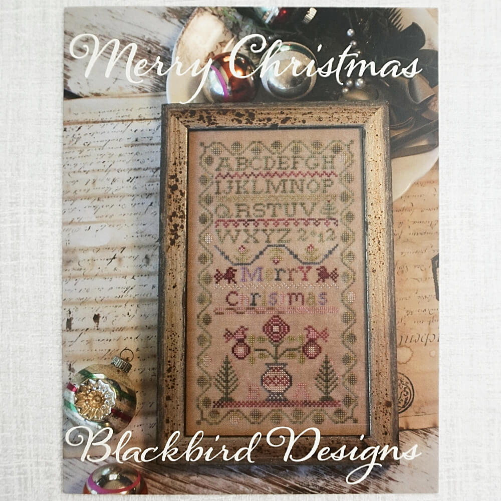 Merry Christmas pattern by Blackbird Designs