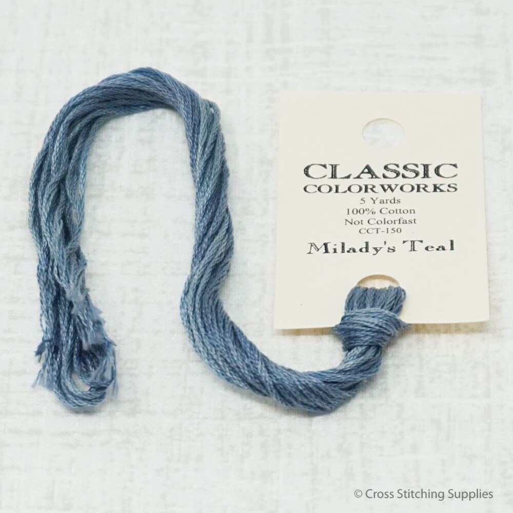 Milady's Teal Classic Colorworks embroidery floss