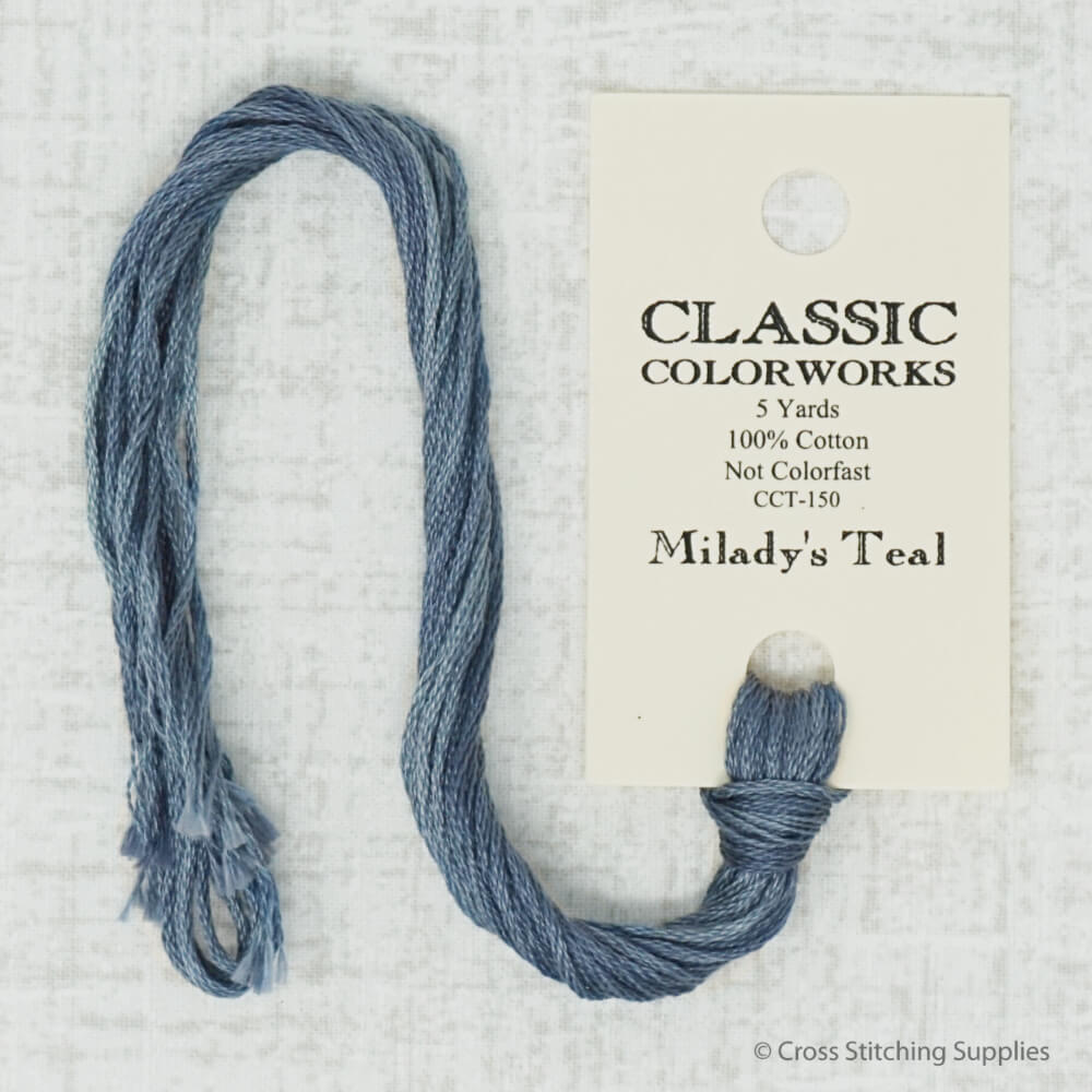 Milady's Teal Classic Colorworks embroidery thread