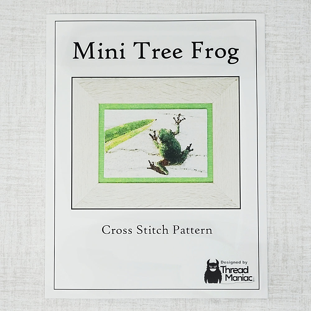 cover for cross stitch pattern for mini tree frog