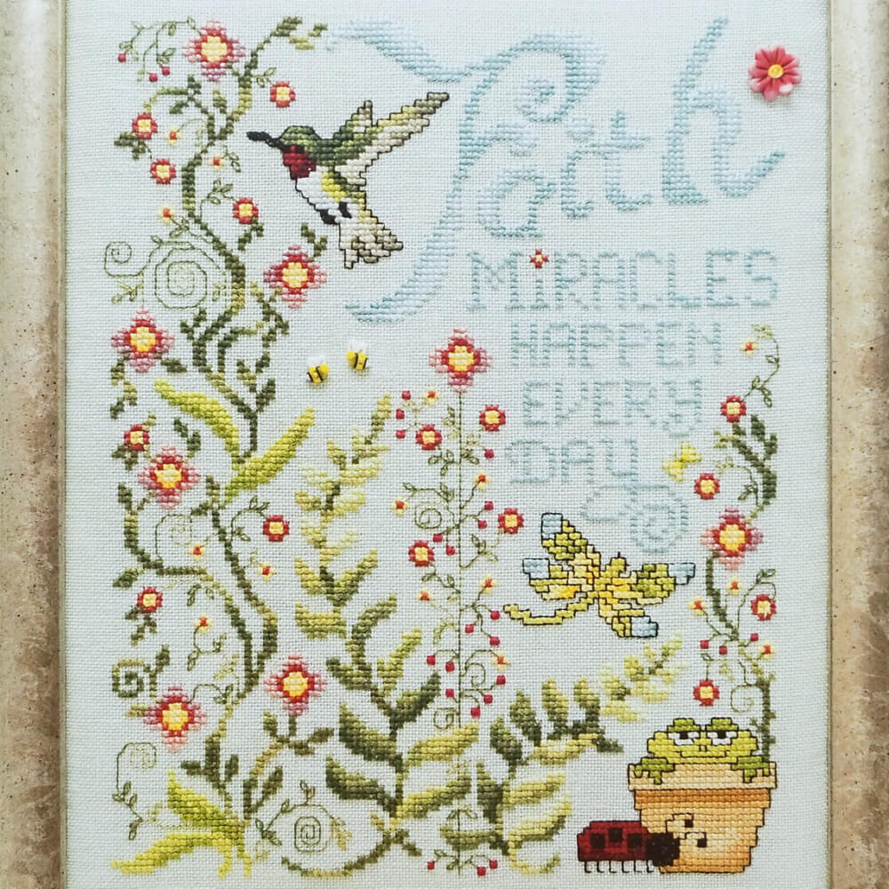 Miracles Happen counted cross stitch patterns