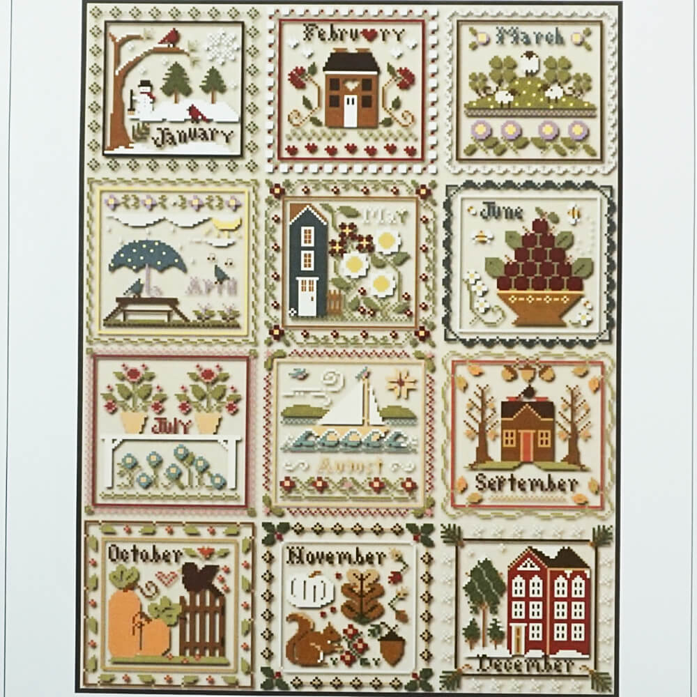 Months of the Year counted cross stitch patterns
