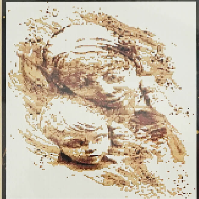 Mother and Child counted cross stitch pattern