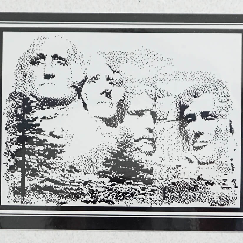 Mount Rushmore counted cross stitch pattern