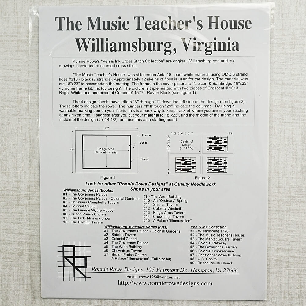 Music Teachers House pattern for sale