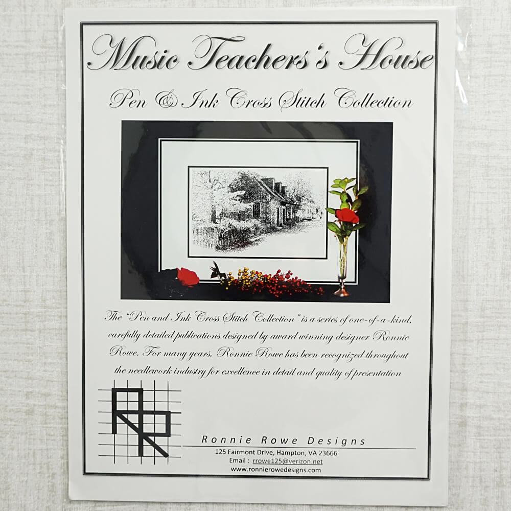 Music Teachers House counted cross stitch pattern