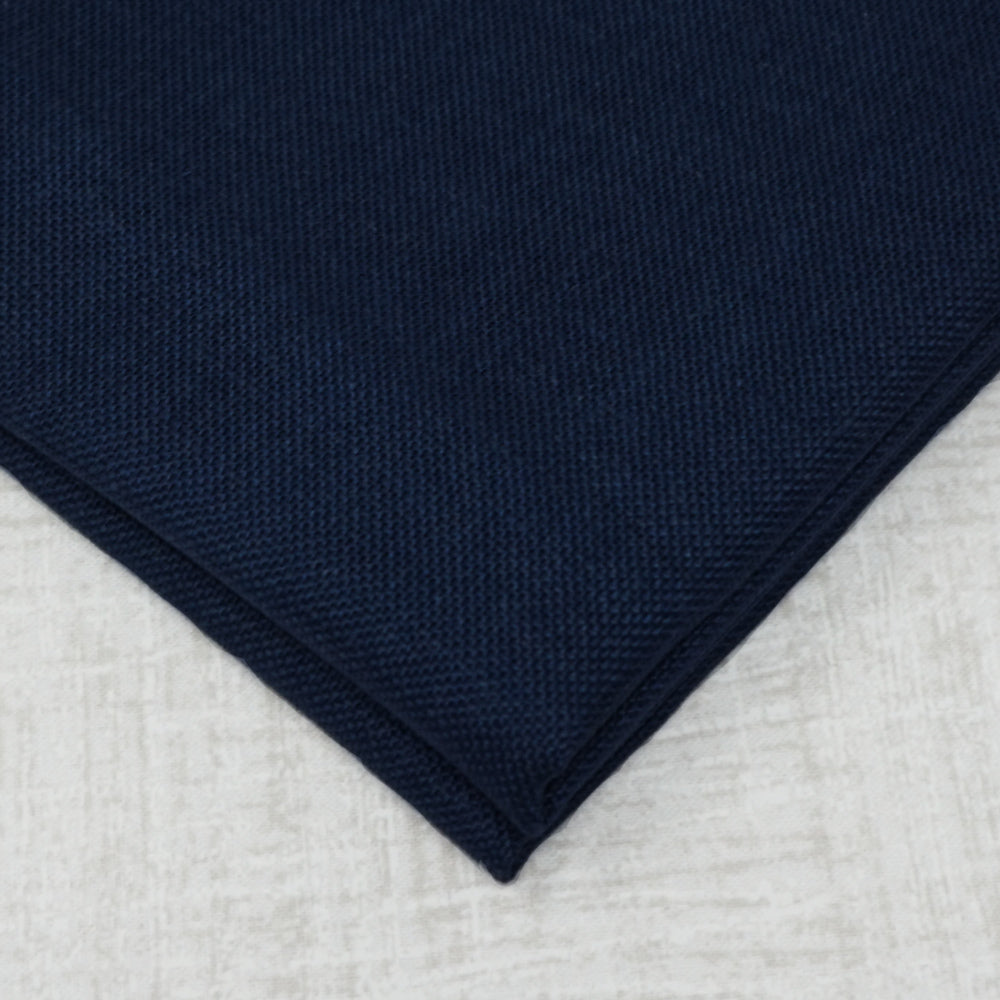 Navy 32 count belfast linen from Zweigart