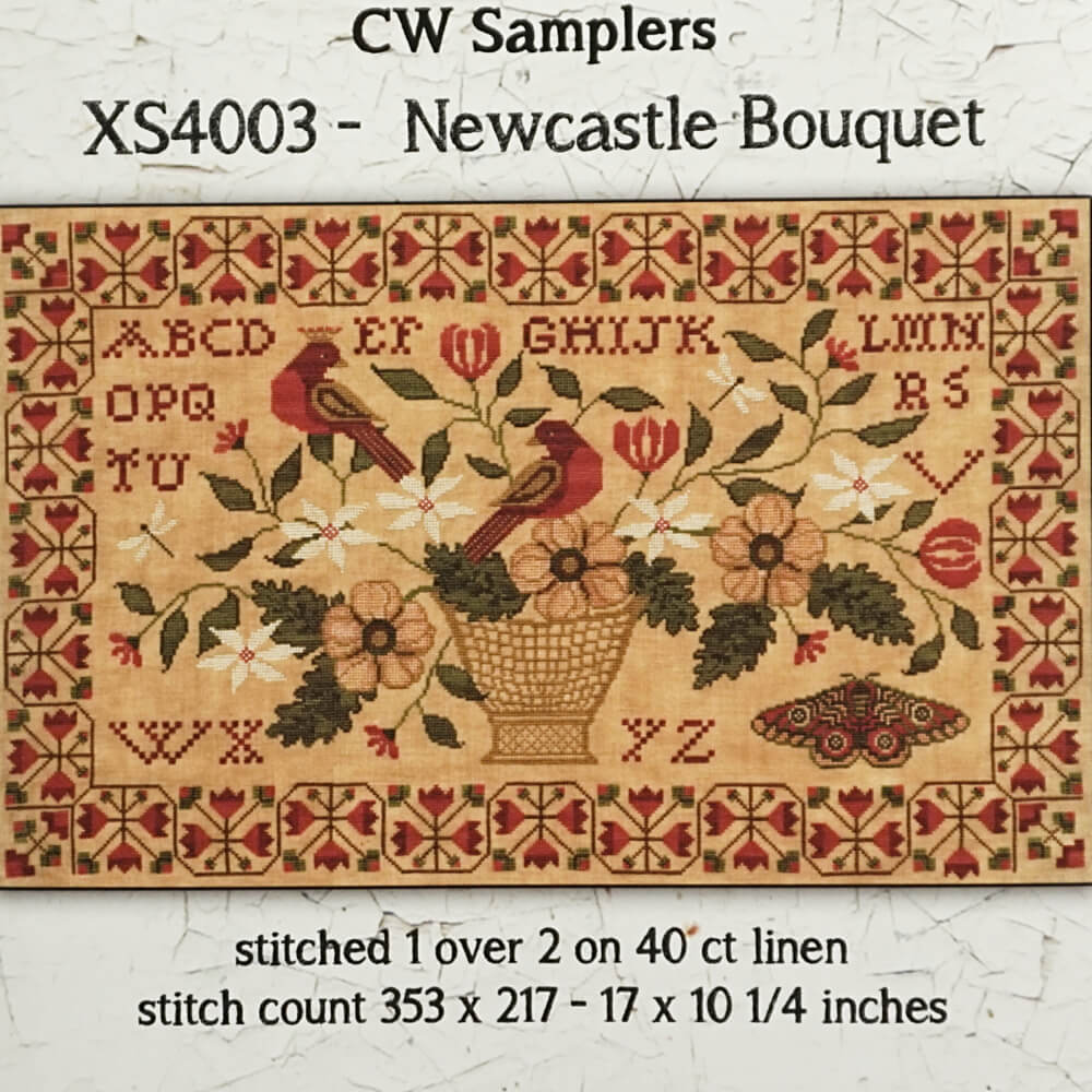 Newcastle Bouquet counted cross stitch pattern
