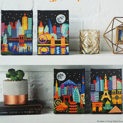 Night Skylines Cross Stitch Patterns | Tiny Modernist