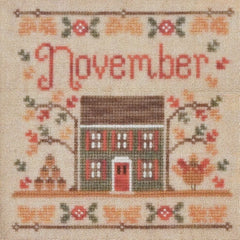 November Cottage Cross Stitch Pattern | Country Cottage Needleworks