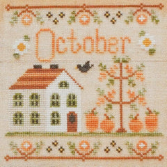 October Cottage Cross Stitch Pattern | Country Cottage Needleworks