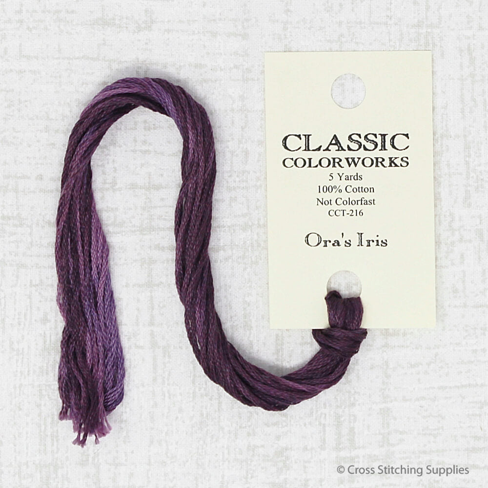 Ora's Iris Classic Colorworks embroidery thread