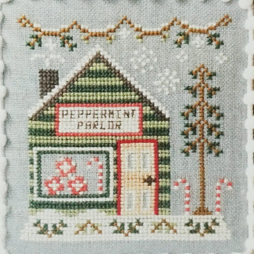 Peppermint Parlor counted cross stitch pattern